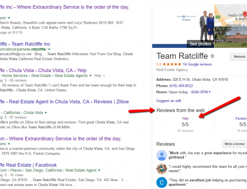 Realtor reviews from Yelp and Facebook now showing up in Google Business pages