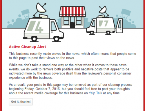 Yelp DOES protect businesses from non-consumer experience review attacks